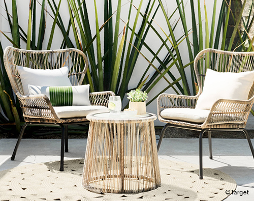 3pc All-Weather Wicker Patio Chat Set