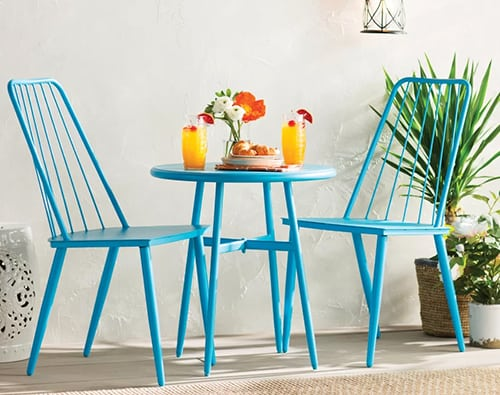 3pc Blue Bistro Set
