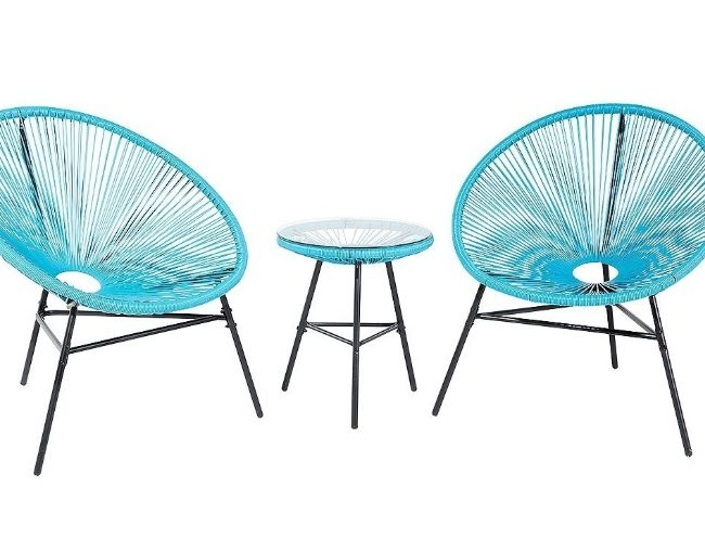 3pc Blue Acapulco Patio Set