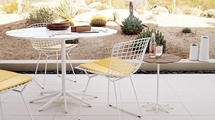 Bertoia Knoll Mid Century Modern Patio Set