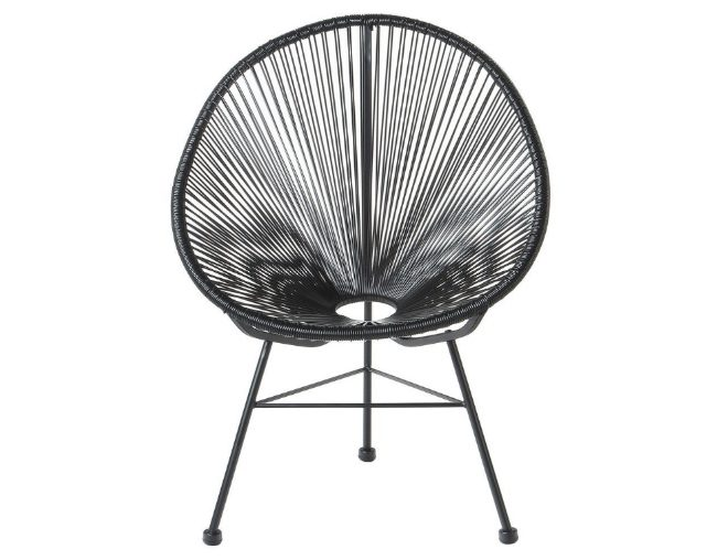 Black Acapulco Lounge Chair