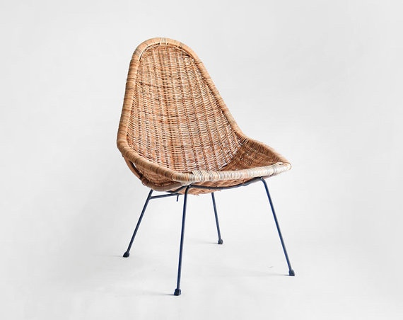 Danny Ho Fong Mid-Century Rattan Chair