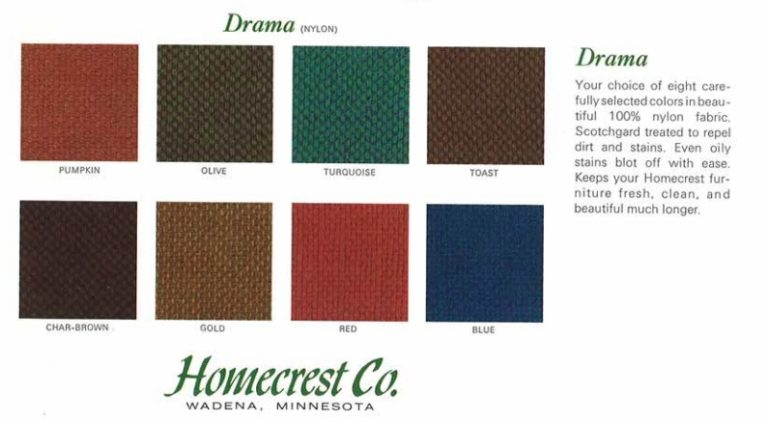 Homecrest Mid-Century Fabric Color Options