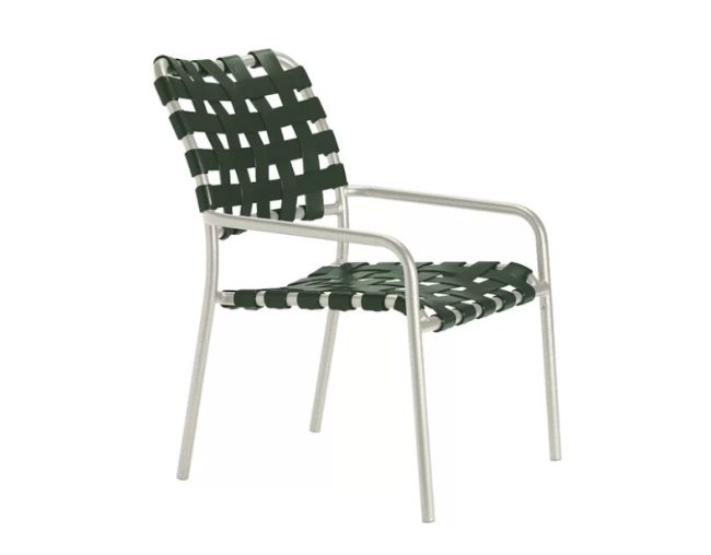 Woven Vinyl Stacking Patio Chair