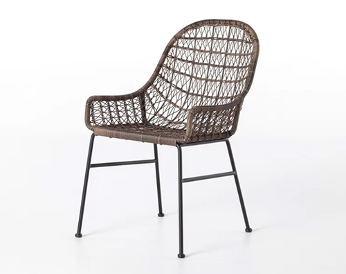 Low Arm Patio Dining Chair