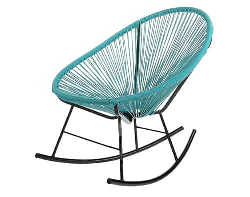 Turquoise Acapulco Rocking Chair