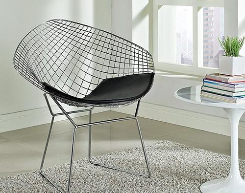 Photo of Bertoia Style Diamond Chair