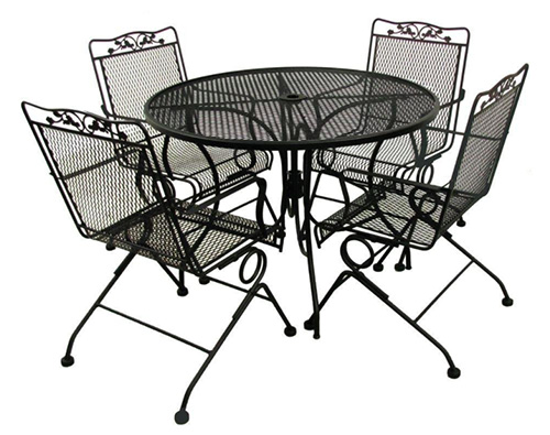 5pc Black Patio Dining Set