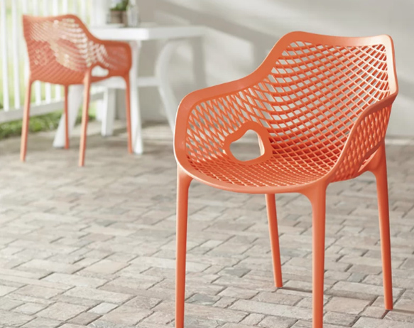 Modern Mesh Stacking Patio Lounge Chair