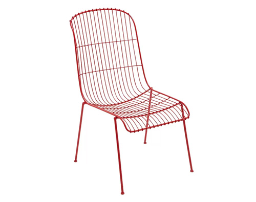 Colored Wire Patio Dining Chair