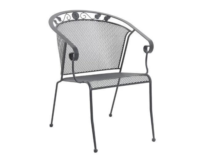Rounded Back Stacking Patio Chair