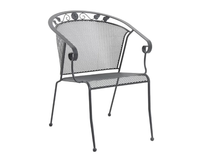 4pc Rounded Back Stacking Patio Chair