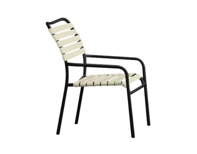 Vinyl Strap Stacking Patio Chair