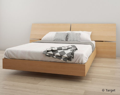 2pc Platform Bed and Headboard