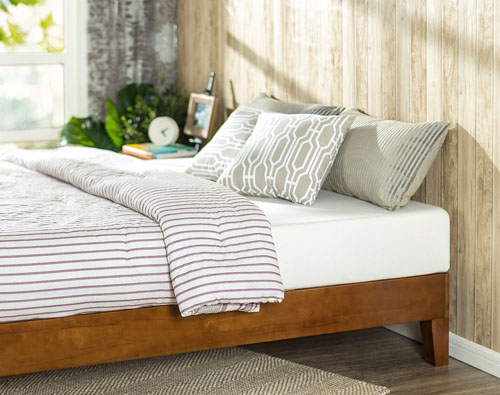 Cherry Wood Platform Bed