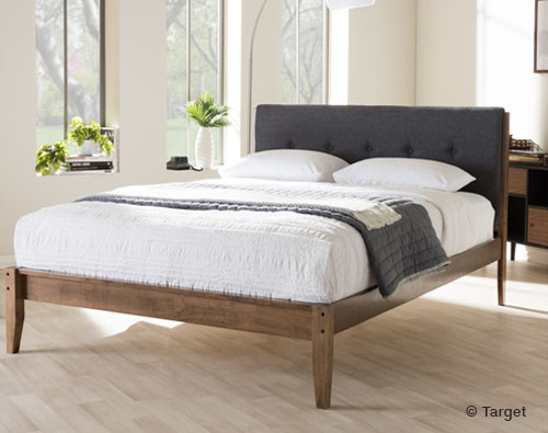 Leyton Fabric Upholstered Platform Bed