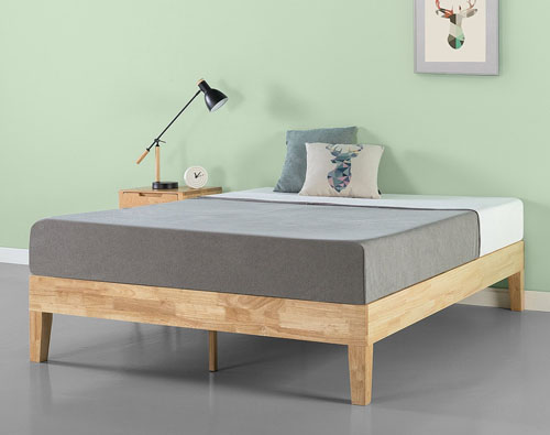 Natural Wood Platform Bed